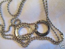 Vintage Silvertone Charm Necklaces American Eagle Outfitr Daughter Smile Jewelry