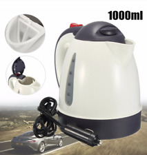 12V 1L Electric Car Boiling Kettle Stainless Coffee Tea Water Heater Travel Camp