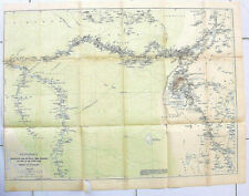 Antique Map Routenkarte Expedition Kongo-Victorial-Njansa Henry M. Stanley 1890