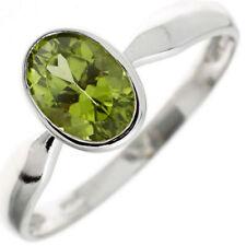 Ringe mit Peridot echten Edelsteinen aus Sterlingsilber für Damen
