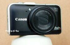 CANON SX230 HS BLACK MECHANICALLY RECONDITIONED-GPS-14X ZOOM-EASY TO HOLD