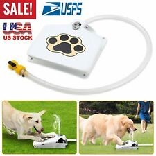"""41"""" Dog Pet Drinking Doggie Activated Water Fountain Trouble-Free Hose Outdoor"""