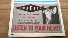 ROXETTE Listen To Your Heart (US smash) UK magazine ADVERT/CLIPPING  8x6 inches