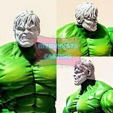Unpainted Marvel Legends Incredible Hulk Head Sculpt Cast Ed Norton 80th Custom