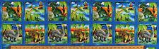 """11.5"""" X 44"""" Panel Dinosaurs Dinos Squares Dino-Might Kids Cotton Fabric D373.27"""
