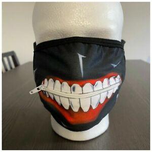 Anime Cosplay Tokyo Ghoul 2 Kaneki Ken Mask Adjustable Zipper