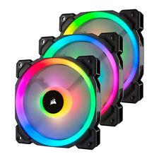 120mm Corsair LL Series, LL120 RGB, 9 Blade, PWM, 16 LED RGB Dual Light Loop, Tr