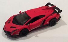 "Kinsmart 5"" Lamborghini Veneno Diecast Car Model 1:36 Black"