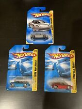 Hot Wheels 2008 First Edition Tesla Roadster Lot Of 3 New On Cards HTF Elon Musk