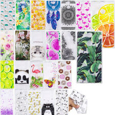 Patterned Clear Slim Soft TPU Silicone Case For Sony Xperia XA2 XA1 L2 Gel Cover