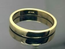 Wedding Band 14k Yellow Gold Solid Plain Ring Unisex 3mm Wide SZ 7