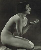 Original Vintage Art Deco Female Nude Everard Photo Gravure Print 30sj