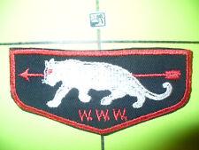 OA White Panther Lodge 345,F-3,1950s BLK Flap,558,Koi Hatachie, Delta Council,MS