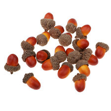 20x beautiful acorns artificial fruit home wedding christmas tree decoration