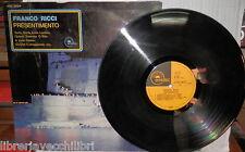 FRANCO RICCI PRESENTIMENTO EMIDISC 1972 3C04851451M Vinile in 33 giri Musica di