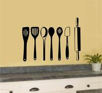 Kitchen Utensils Vinyl Decal Wall Stickers Home Kitchen Decor Art