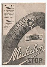 Pubblicità 1935 MICHELIN STOP CAR MOTOR advertising reklame werbung publicitè