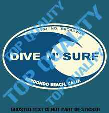 VINTAGE DIVE N SURF DECAL STICKER GREAT 4 WOODY SURFING RAT ROD DECALS STICKERS