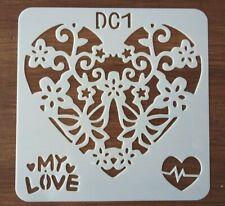 LOVE HEART STENCIL 130mm x 130mm