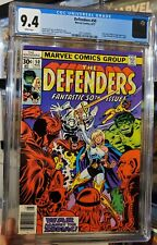 THE DEFENDERS #50 CGC 9.4 WHITE PGS RARE EARLY MOON KNIGHT 1977