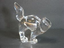Villeroy & Boch Crystal Glass Cat Figure/Paperweight Signed/Sticker, Heavy Mint!