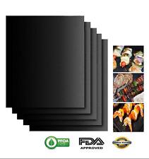 2x Set Barbecue Grill Mat resistente all'riutilizzabile antiaderente barbecue Teglia da forno cucina