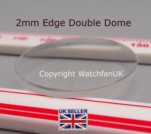 Watch Glass Mineral Crystal - Domed Round - 2mm thick range 18mm to 50mm