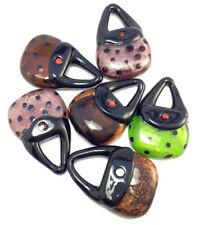 Purse Handbag Foil Murano Lampwork Glass Pendant Mixed Colors Q6 Destash Sale