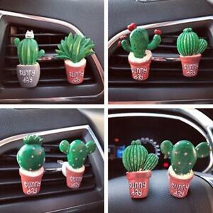 Car Vent Clip Air Freshener Perfume Diffuser Plant Cute Cactus Decoration