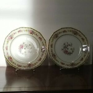 CH Field Haviland Limoges GDA France Jordan Marsh Co Dinner Plates (2)