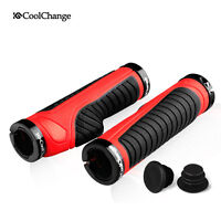 1 Pair Anti-slip Double Lock On Mountain Bike Bicycle Cycling Handle Bar Grips