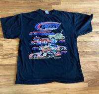 PETTY FOUR GENERATIONS OF RACINGS LEGENDS T-Shirt , Size XL, Black,Richard Petty