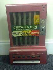 RARE Chewing Gum Dispenser Antique 1 cent Red Machine