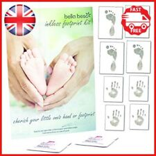Baby Footprint Kit Twin Pack - Eight Sheets and Two inkless Wipes - Ready to
