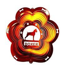 Stainless Steel Boxer Dog - 12 Inch Wind Spinner, Copper Garden Patio Decor Sock