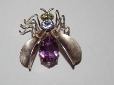 Fly Brooch Vintage Soviet Silver Sterling 875 Woman Pin Alexandrite Jewelry 30's