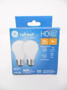 GE Refresh LED Energetic Daylight HD Light 4w Ceiling Fan A15 Dimmable - 2 Bulbs