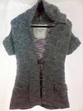 Abercrombie & Fitch Women's Sweater Short Sleeve Cardigan Cable knit Size Medium