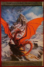 Red Dragon Mountain Aquarius Colection Fantasy Art Poster Paul Jaquays 24X36 New