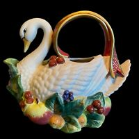 """Fitz and Floyd Essentials Swan Pitcher 9"""" Tall 10.5"""" Long"""
