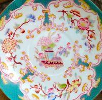 Assiette,soucoupe ancienne en porcelaine, Sarreguemines, XIXeme.