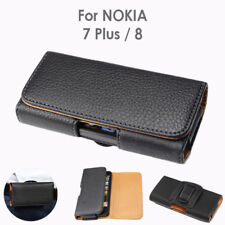 Nokia 8 Nokia 7 Plus PU Leather Pouch Belt Clip Case Cover for Nokia