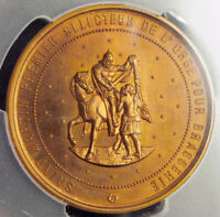 "1885, France. ""International Beer, Malt & Hop Competition"" Medal. PCGS SP-65!"