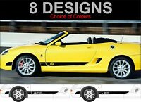 mg mgf mgtf side stripes decals stickers graphics 2 off