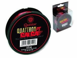 Quantum Quattron Salsa Transparent Red 275m 0.25mm - 0.35mm Monofilament Line
