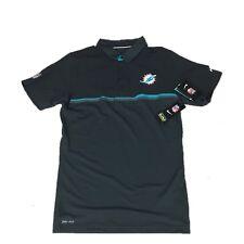 NEW NWT Miami Dolphins Nike Men's Preseason Dri Fit Elite Polo Shirt Size Small