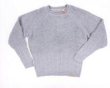 NEW $80 WEATHERPROOF GRAY CABLE KNITTED TEXTURED CREWNECK SWEATER SIZE L