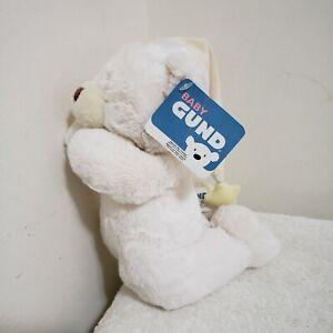 "Baby Gund Bedtime Prayer Plush White Bear ""Now I Lay Me Down To Sleep"" Speaking"