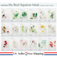innisfree My real squeeze mask 18kinds (choose) + Free Sample [ US Seller ]