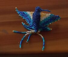 Blue Bead Hummingbird Stretch o/s BIG Ring fits size 5 6 7